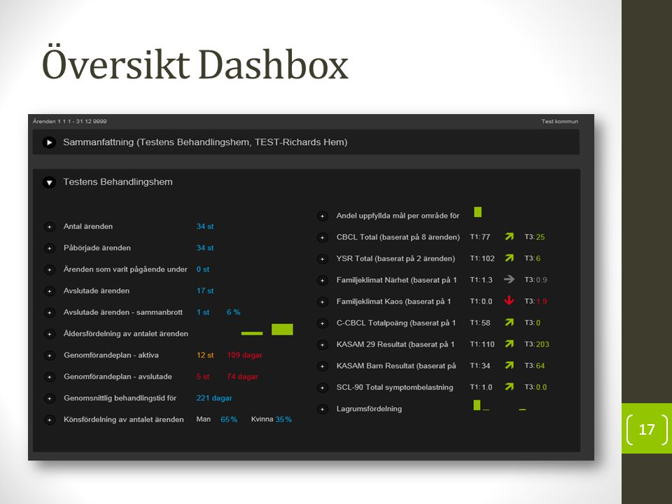 Översikt Dashbox 17