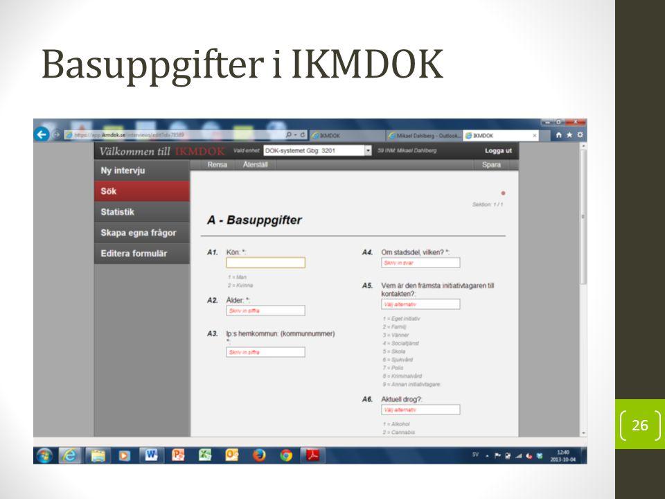 Basuppgifter i IKMDOK 26