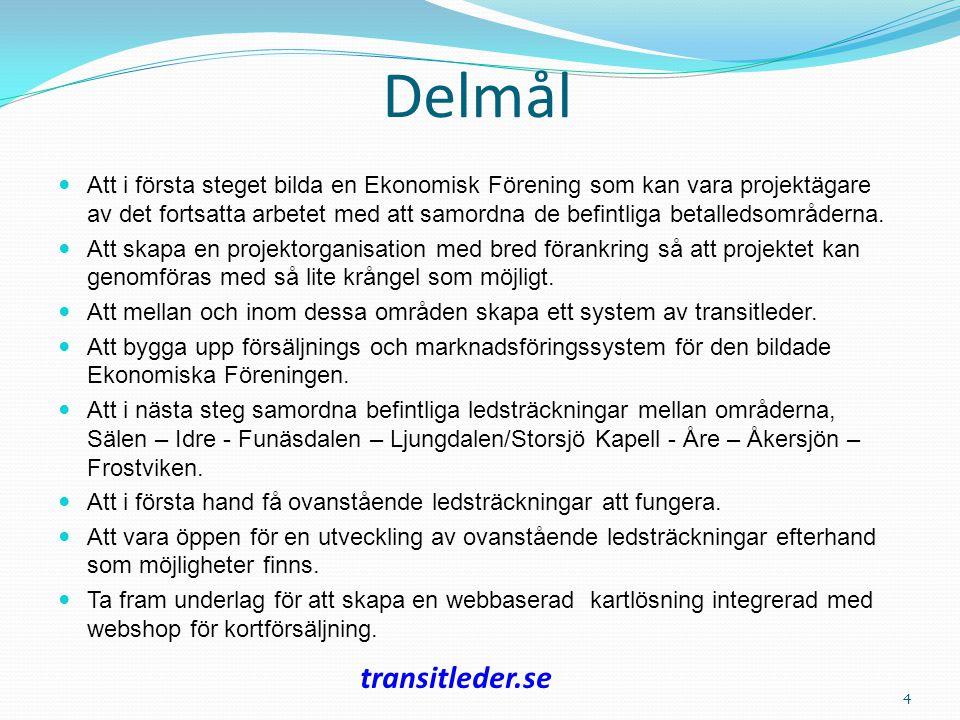 Syfte Stärka näringslivet genom att en genomtänkt planering av ett transitledsystem.