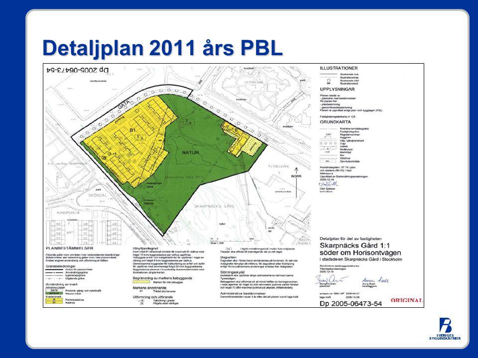 Detaljplan 2011 års PBL