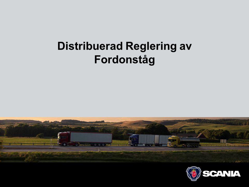 Distribuerad Reglering av Fordonståg