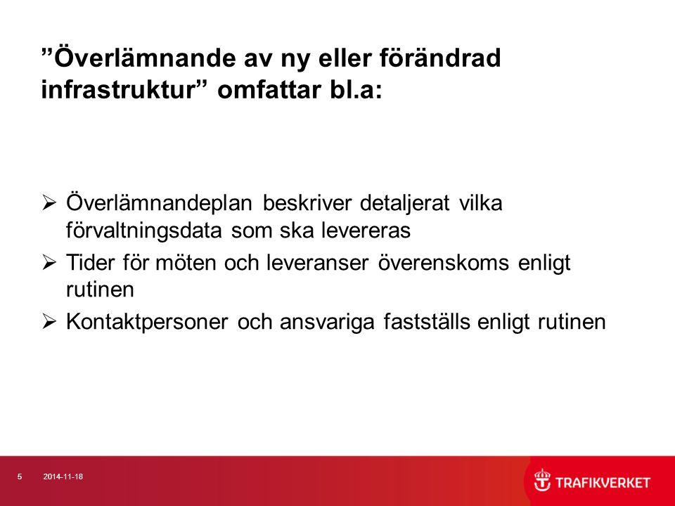 62014-11-18 Förvaltningsdata Järnväg  BVF, S och H 1584.300 beskriver analoga och digital krav på förvaltningsdata.