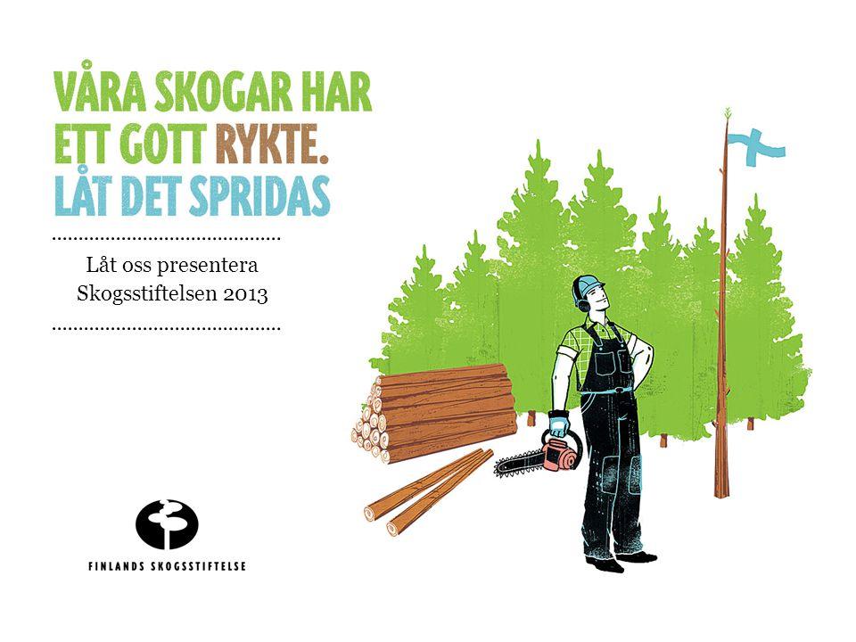 Låt oss presentera Skogsstiftelsen 2013