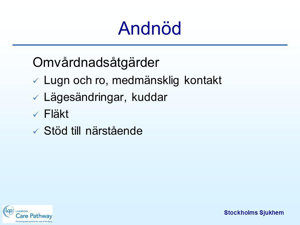 Stockholms Sjukhem Pump för kontinuerlig tillförsel av läkemedel