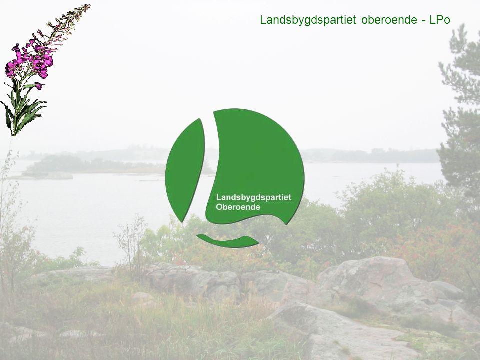 Landsbygdspartiet oberoende - LPo Översiktsplaner och energifrågor Vi anser att i många fall bromsar de kommunala översiktsplanerna, länsstyrelsen och militära intressen utvecklingen på landsbygden.