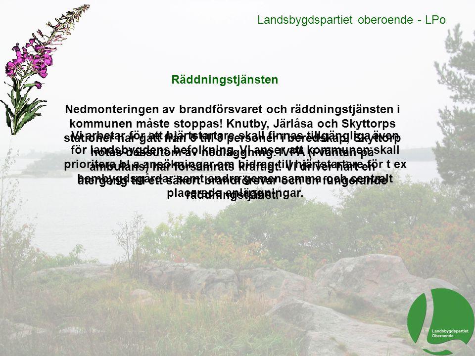 Landsbygdspartiet oberoende - LPo Under en storkontroll i Ånge blev alla bilar stoppade.
