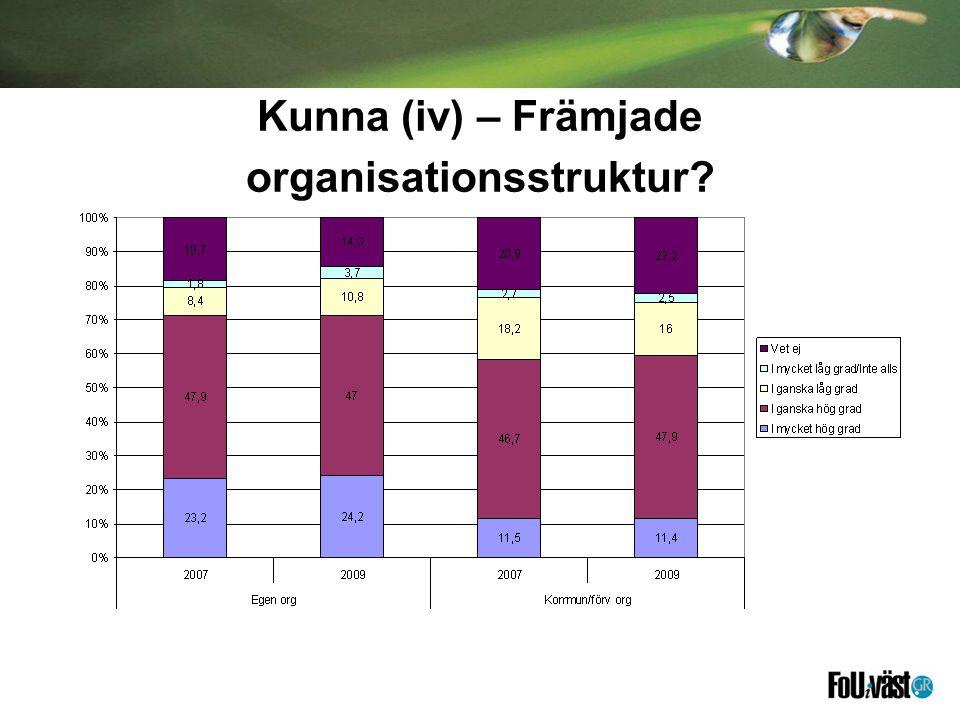 Kunna (iv) – Främjade organisationsstruktur?