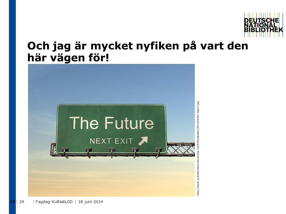 Och jag är mycket nyfiken på vart den här vägen för! | 29 | Fagdag KulNatLOD | 18 juni 2014 29 http://www.gedankenkonsum.de/wp-content/uploads/2011/03