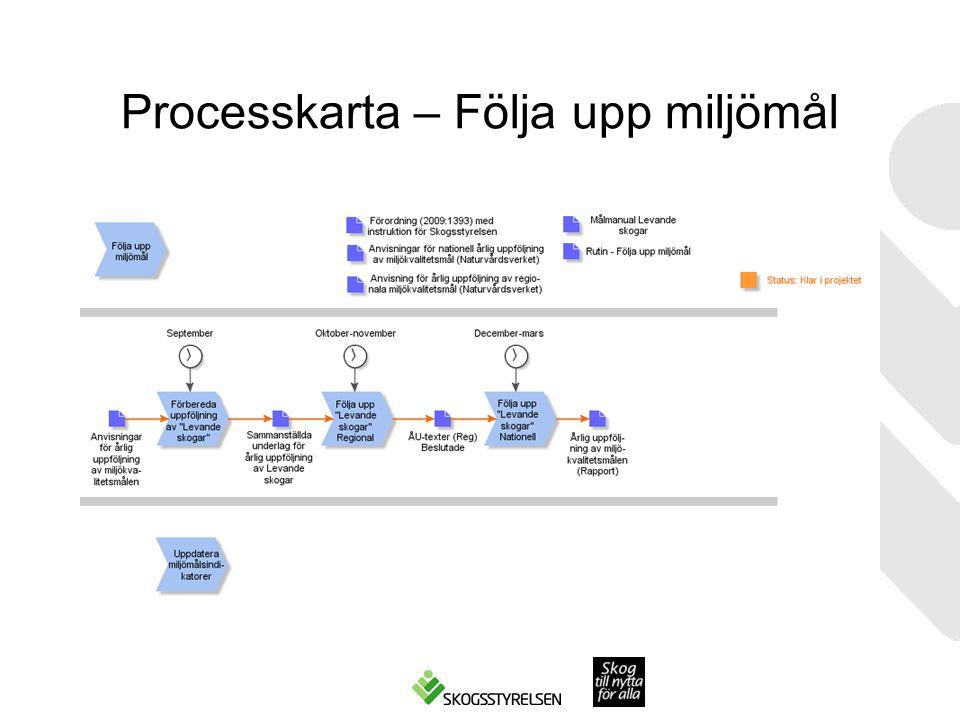 Processkarta – Följa upp miljömål