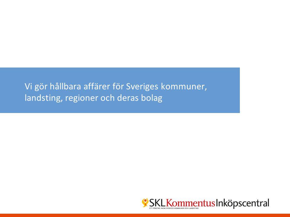 Vi gör hållbara affärer för Sveriges kommuner, landsting, regioner och deras bolag