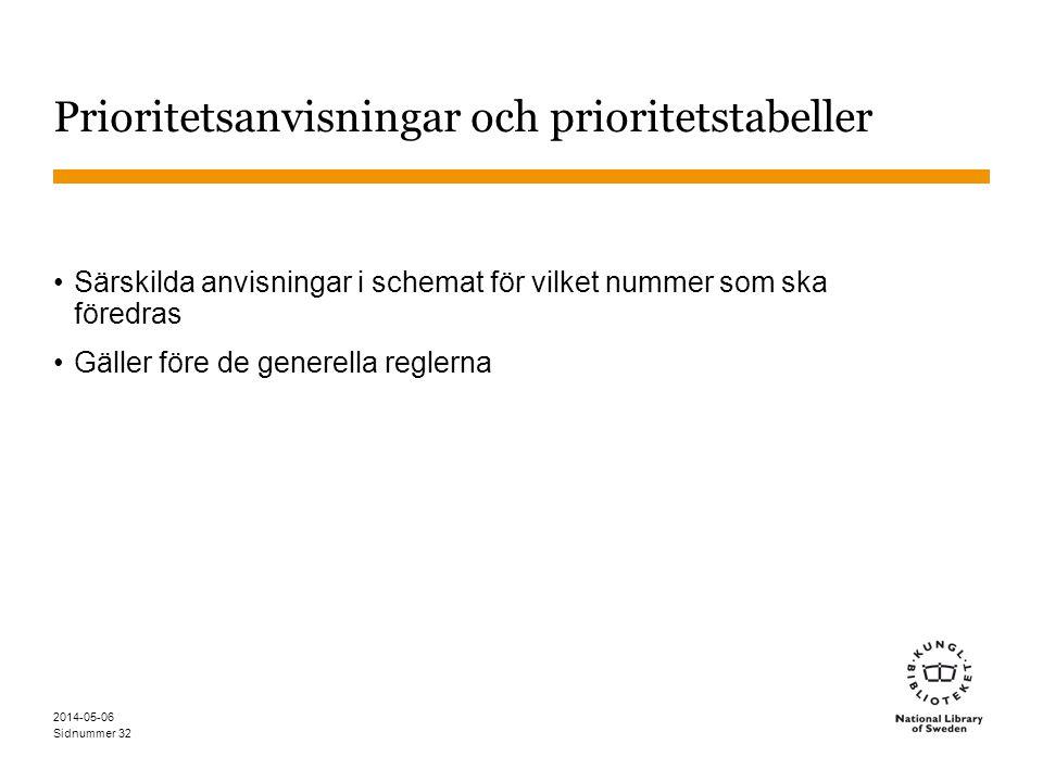 Sidnummer Prioritetanvisning 363.728 Avfall Förutsatt att inga andra anvisningar ges, klassificera ett ämne med aspekter inom två eller flera indelningar av 363.728 under det nummer som kommer sist, t.ex.
