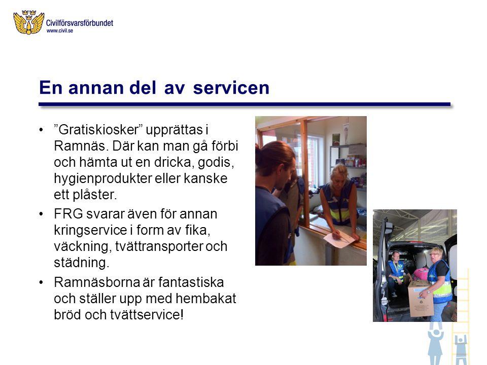 """""""Gratiskiosker"""" upprättas i Ramnäs. Där kan man gå förbi och hämta ut en dricka, godis, hygienprodukter eller kanske ett plåster. FRG svarar även för"""