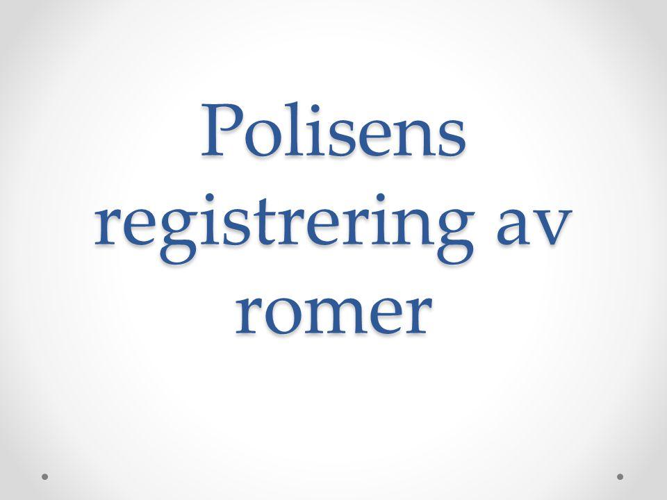 Polisens registrering av romer