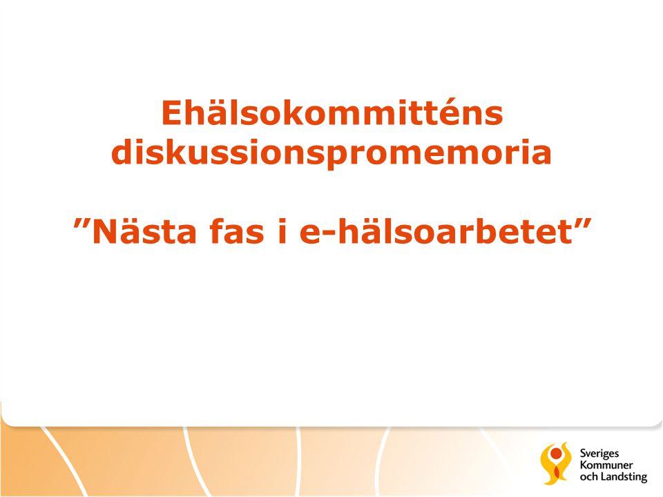 Ehälsokommitténs uppdrag, ffa  Se över ändamålsenlighet och ansvarsfördelning när det gäller tillhandahållande och utformning av it-stöd inom hälso- och sjukvården och socialtjänsten.