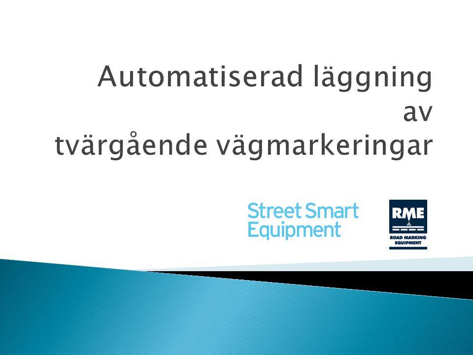 Automatiserad läggning av tvärgående vägmarkeringar