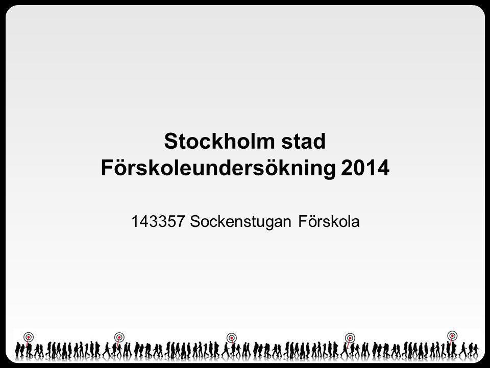 Stockholm stad Förskoleundersökning 2014 143357 Sockenstugan Förskola