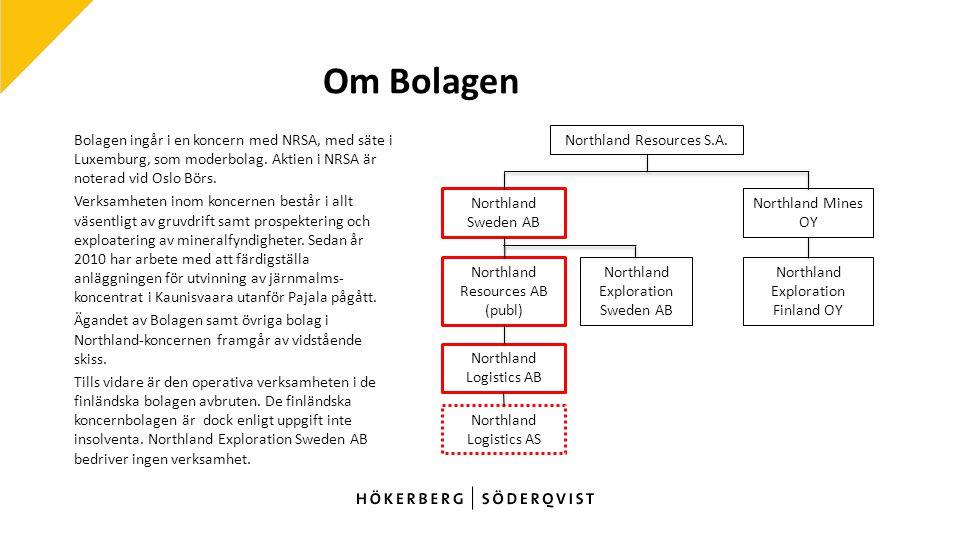 Om Bolagen Bolagen ingår i en koncern med NRSA, med säte i Luxemburg, som moderbolag.