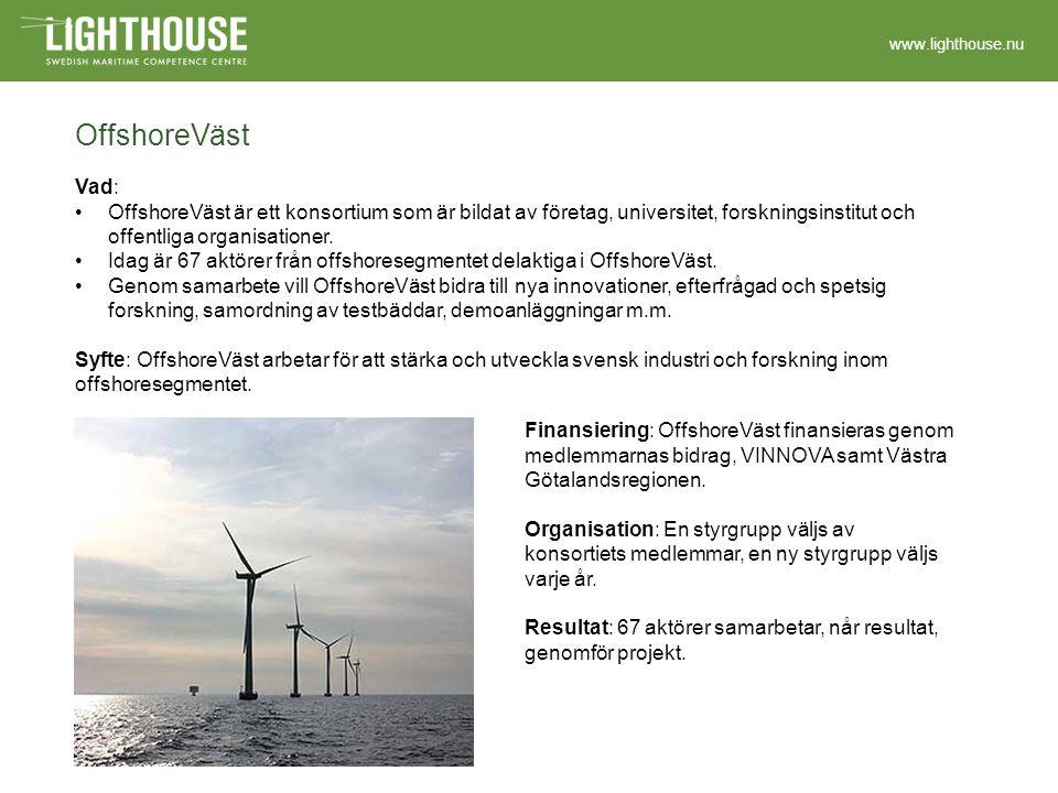 www.lighthouse.nu Green Ship of the Future Vad: Green Ship är ett danskt initiativ som grundades av danska Sjöfartsverket samt de danska maritima företagen Aalborg Industries, A.P.
