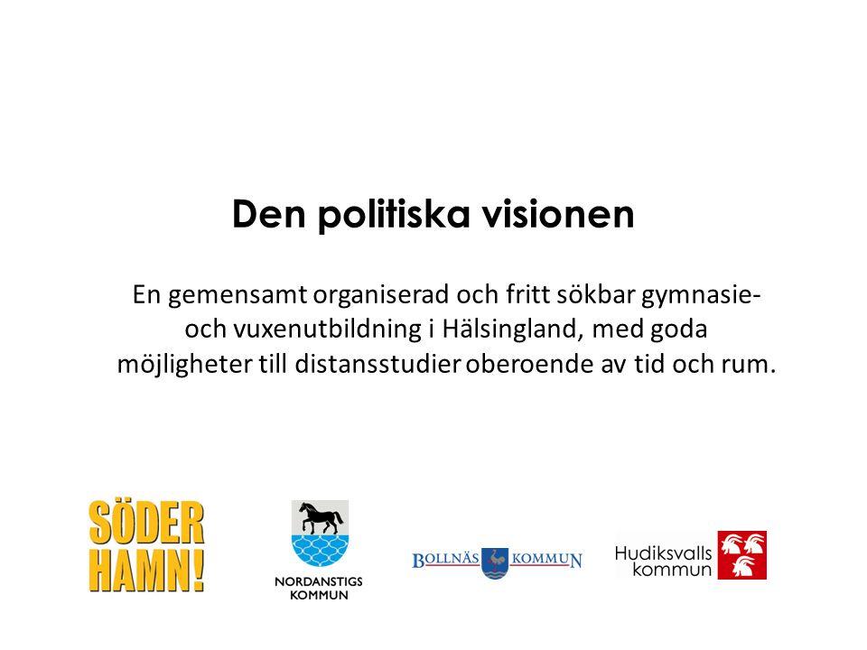 En gemensamt organiserad och fritt sökbar gymnasie- och vuxenutbildning i Hälsingland, med goda möjligheter till distansstudier oberoende av tid och r