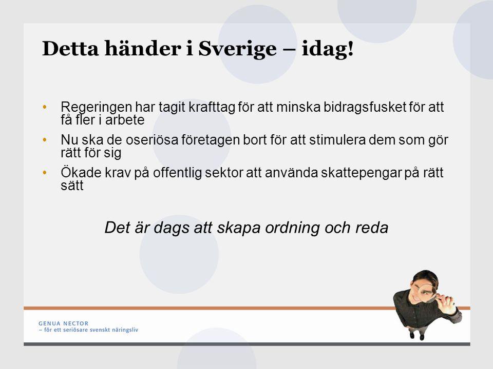 Detta händer i Sverige – idag.