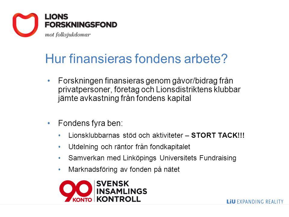 Hur finansieras fondens arbete.
