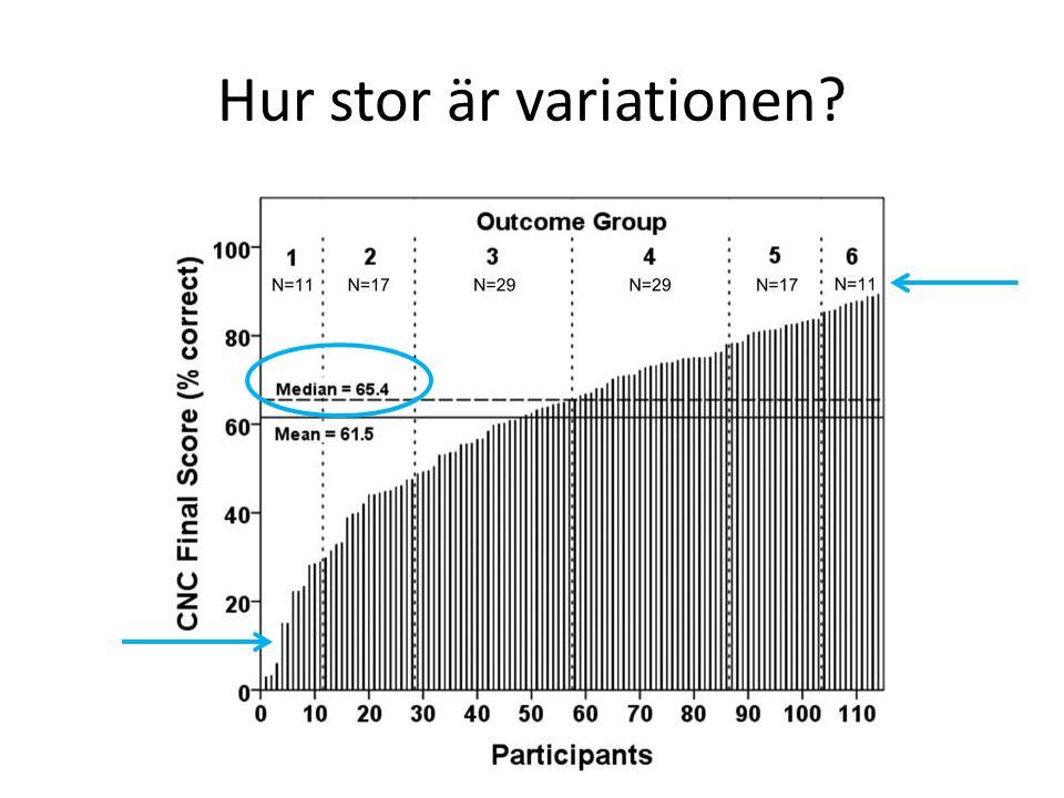 Hur stor är variationen?