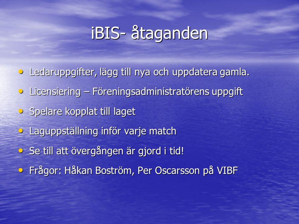 iBIS- åtaganden Ledaruppgifter, lägg till nya och uppdatera gamla.
