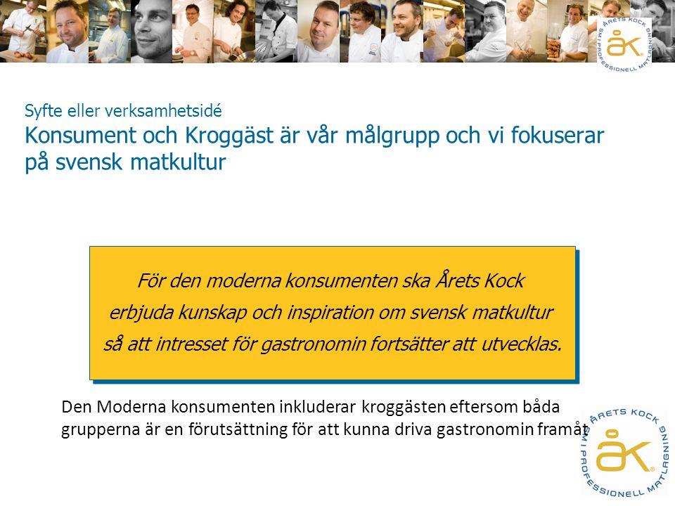Årets Kock är Svenskt Mästerskap i professionell matlagning och därmed Sveriges mest prestigefyllda gastronomitävling.