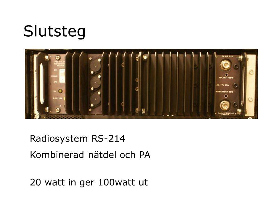 Slutsteg Radiosystem RS-214 Kombinerad nätdel och PA 20 watt in ger 100watt ut