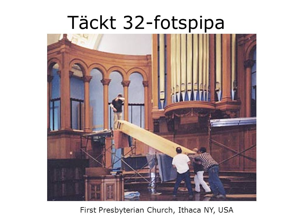 Täckt 32-fotspipa First Presbyterian Church, Ithaca NY, USA