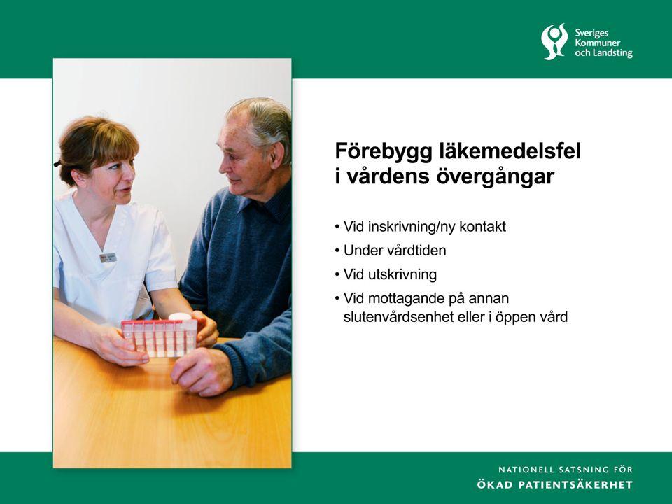 6 En säker läkemedelsprocess för SÄLMA 1.Identifiering av behov 2.