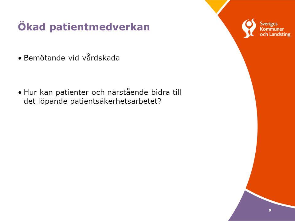 10 Frågor Hur arbetar ni systematiskt och i samverkan med en säker läkemedelsanvändning hos äldre.