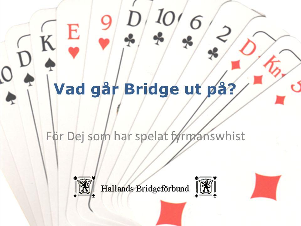 Vad går Bridge ut på? För Dej som har spelat fyrmanswhist