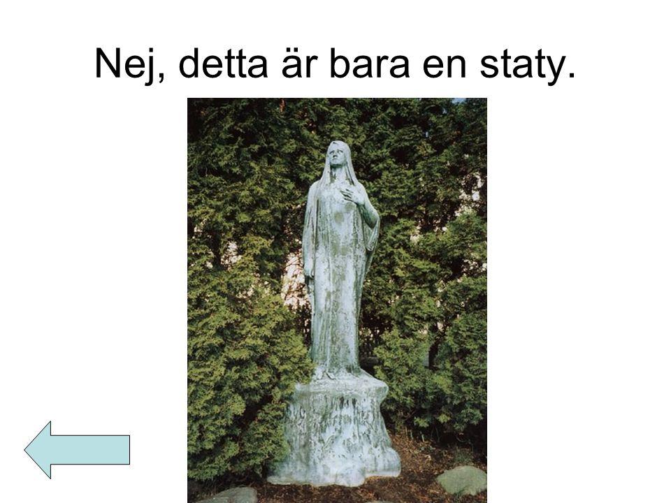 Nej, detta är bara en staty.