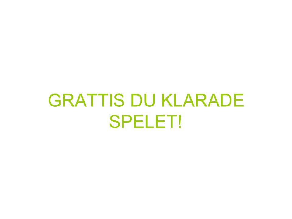 GRATTIS DU KLARADE SPELET!