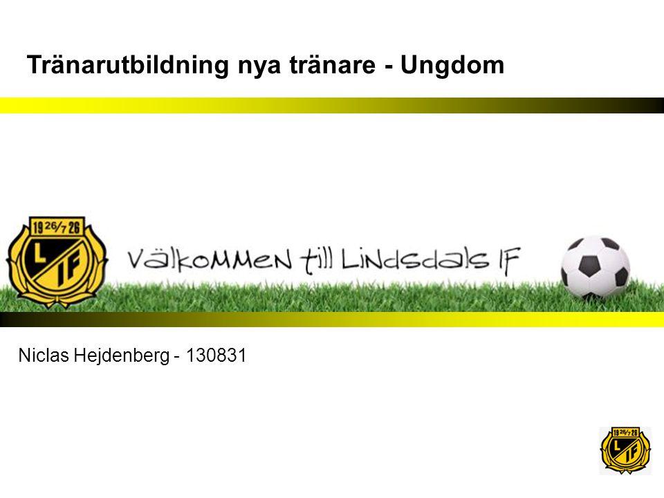 Tränarutbildning nya tränare - Ungdom Niclas Hejdenberg - 130831