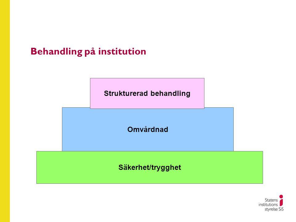 Behandling på institution Omvårdnad Säkerhet/trygghet Strukturerad behandling