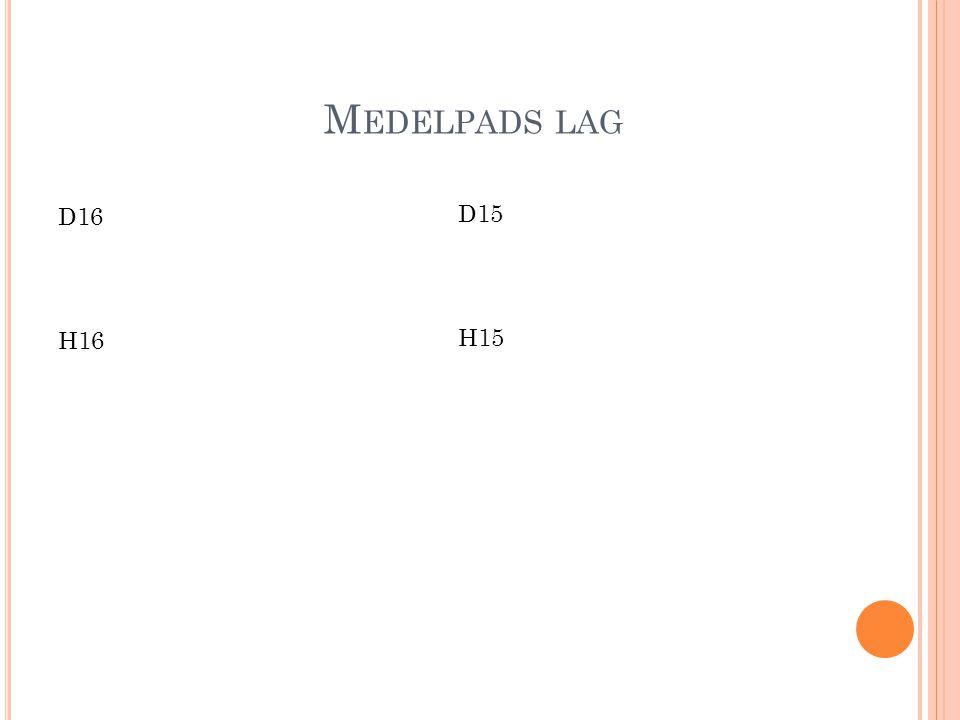M EDELPADS LAG D16 H16 D15 H15