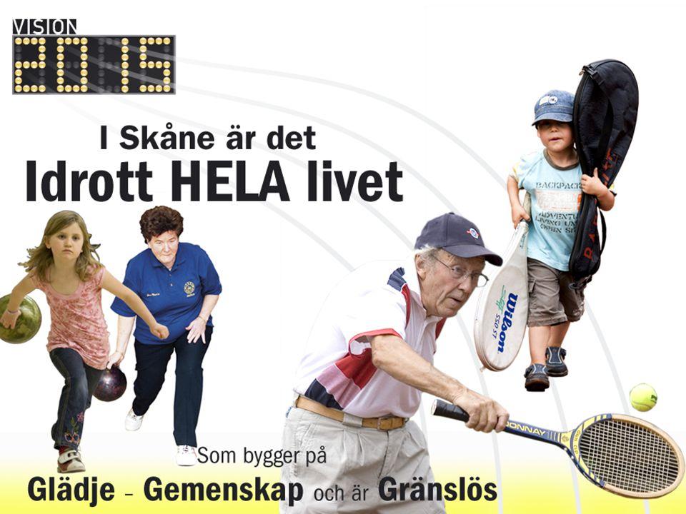 Elitidrott Fokuserade mål, forts Fortsätta satsningen på att skapa ett nationellt kompetenscenter för elitidrott i Malmö genom Malmö Idrottsakademi, samt fyra mindre centra i Kristianstad, Lund, Ystad och Helsingborg.