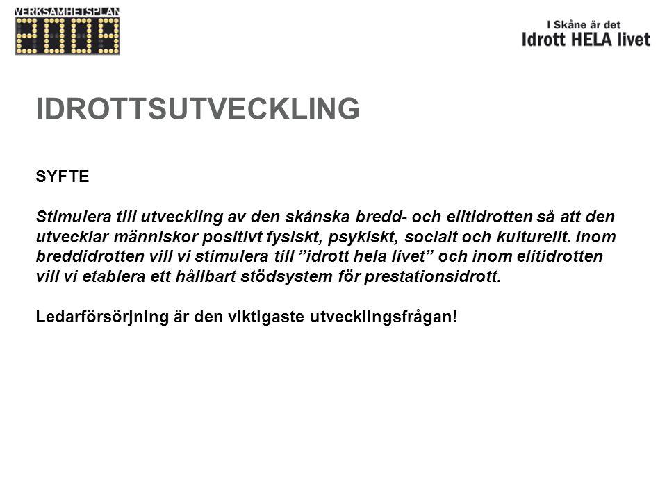 Fokusering Skapa förutsättningar för en hållbar ledarförsörjningsmodell i Skåne vilket ska innebära en ökning till 83 000 idrottsledare.