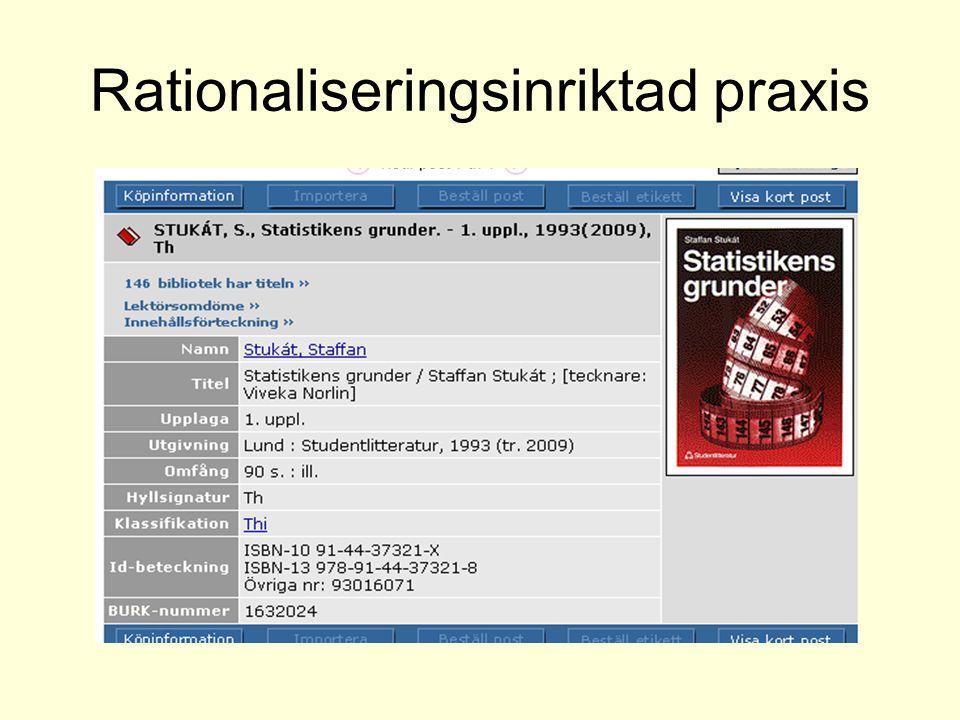 Förkortad katalogisering KRS83 1.0D not 1 För beskrivning av vissa typer av objekt kan en miniminivå tillämpas som innebär en beskrivning av verket, inte objektet (förkortad katalogisering).