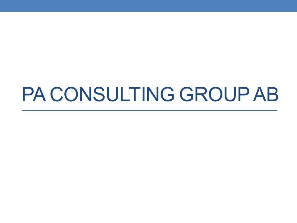 PA CONSULTING GROUP AB
