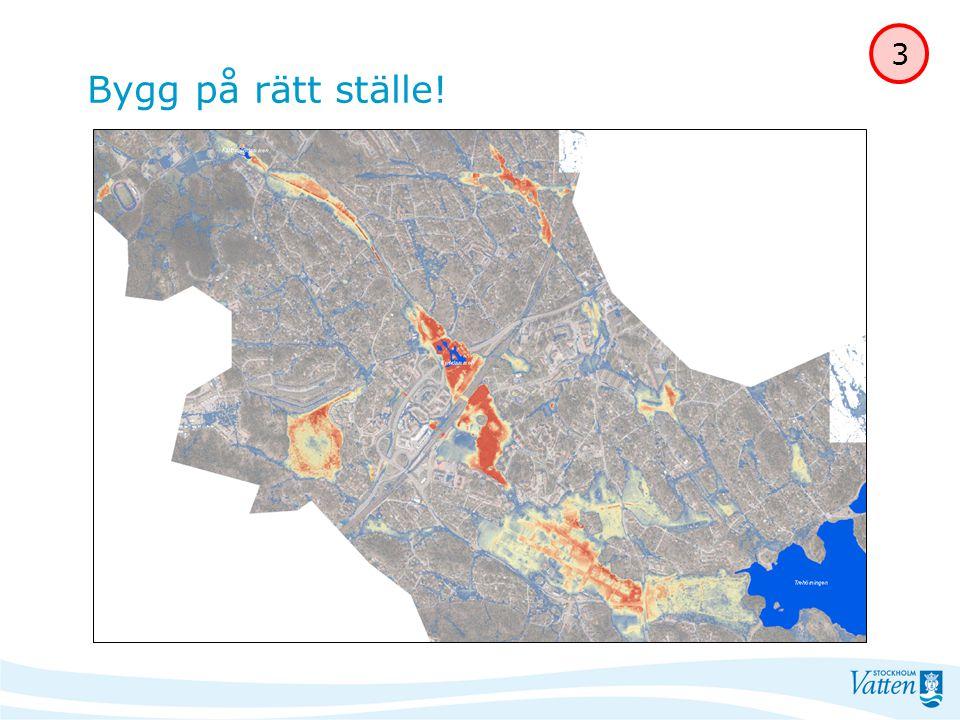 Planera för dagvatten Bygg på rätt ställe inte på mark som kan komma att översvämmas Tag vara på nivåer och lutningar anpassa bebyggelsestrukturen till förutsättningarna