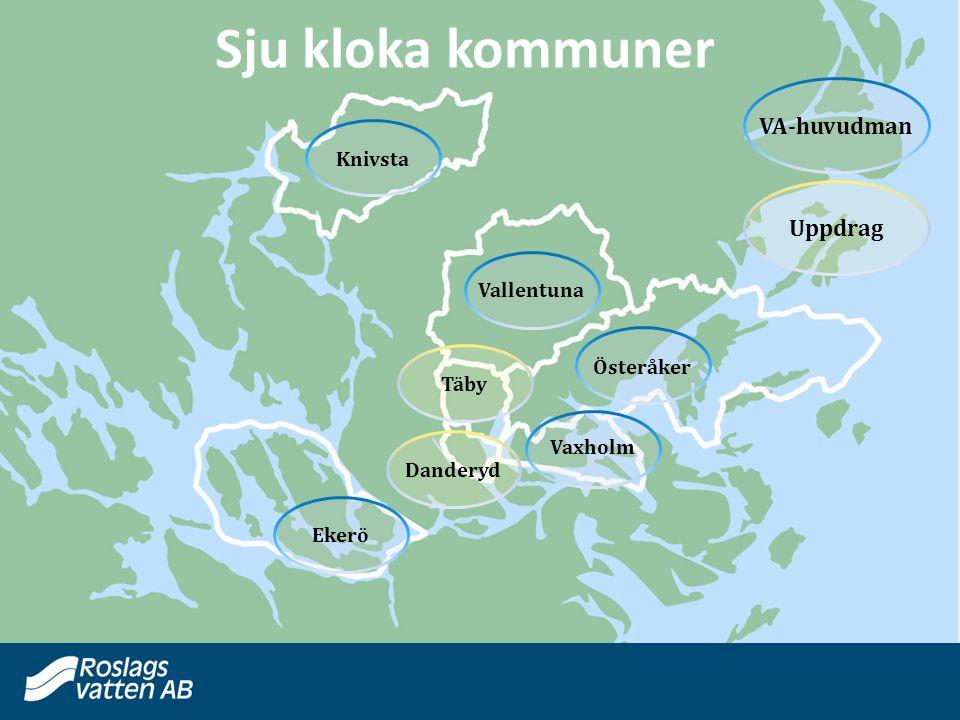 Knivsta Vallentuna Österåker Täby Vaxholm Danderyd Ekerö VA-huvudman Uppdrag Sju kloka kommuner
