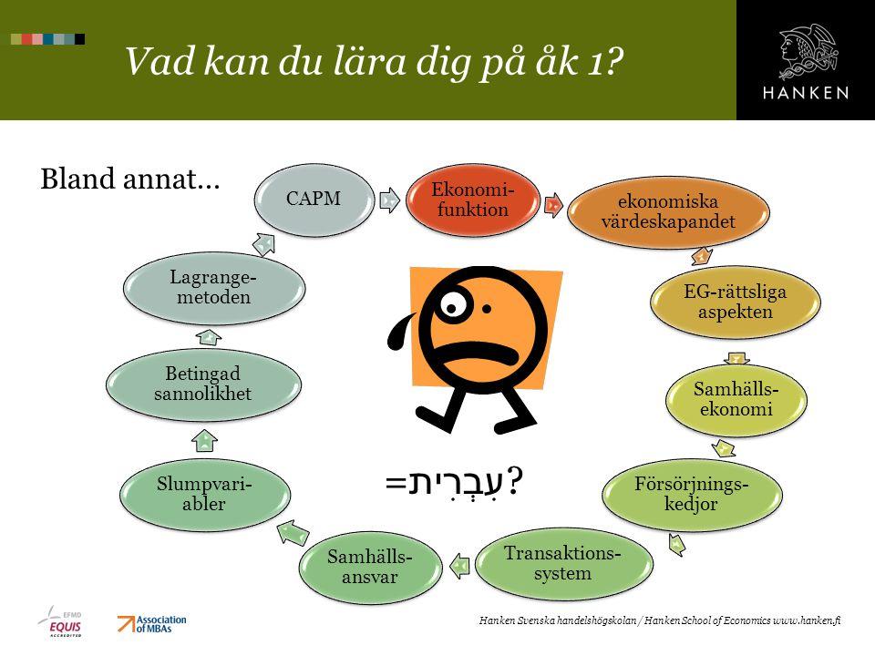 Vad kan du lära dig på åk 1? Ekonomi- funktion ekonomiska värdeskapandet EG-rättsliga aspekten Samhälls- ekonomi Försörjnings- kedjor Transaktions- sy