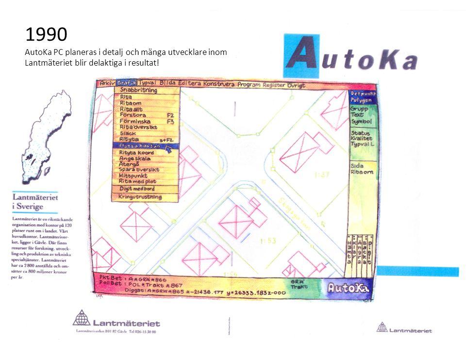 1990 AutoKa PC planeras i detalj och mänga utvecklare inom Lantmäteriet blir delaktiga i resultat!