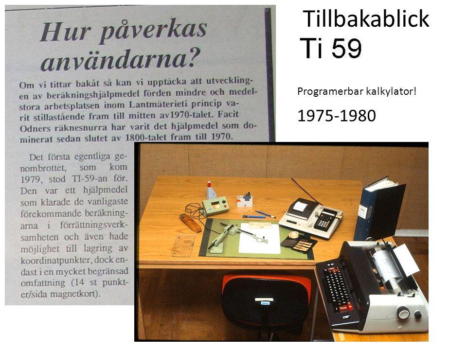 1975-1980 Programerbar kalkylator! Tillbakablick