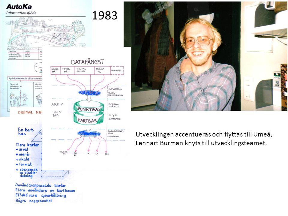 Utvecklingen accentueras och flyttas till Umeå, Lennart Burman knyts till utvecklingsteamet. 1983