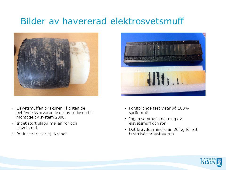 Bilder av havererad elektrosvetsmuff Elsvetsmuffen är skuren i kanten de behövde kvarvarande del av redusen för montage av system 2000. Inget stort gl