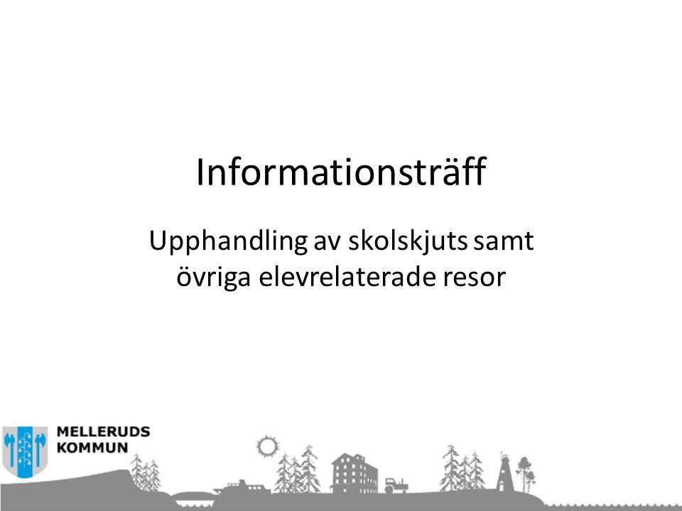 Informationsträff Upphandling av skolskjuts samt övriga elevrelaterade resor